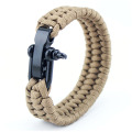 Adjustable Black Military Paracord Bracelet
