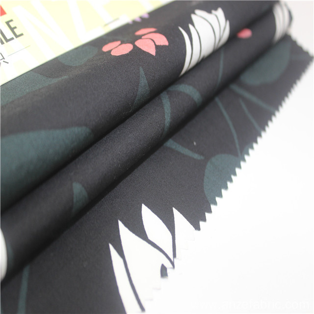 60*60 hotsale black 100%cotton printed poplin fabric