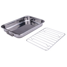 Household roaster grill pan stainless steel baking pan