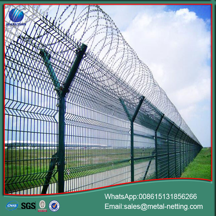 airport fence with razor wire