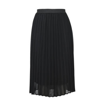 Vintage Mesh Lace Pleated Skirt