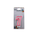 Custom number birthday candle