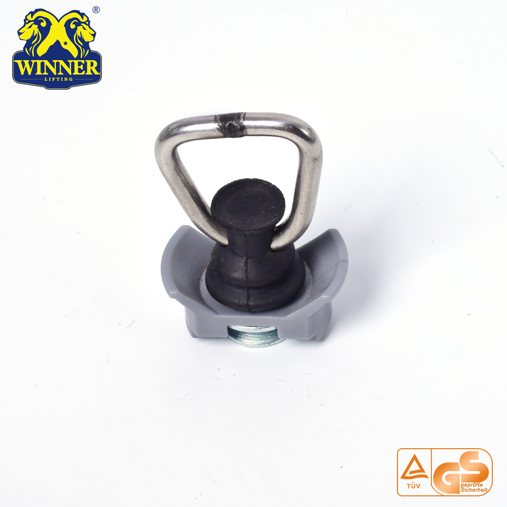 Single Stud Fitting With SS D Ring For Cargo Control