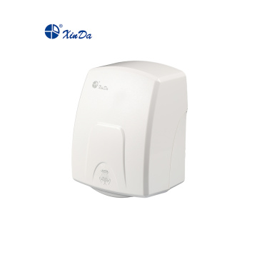 Hand dryer with white plastic body