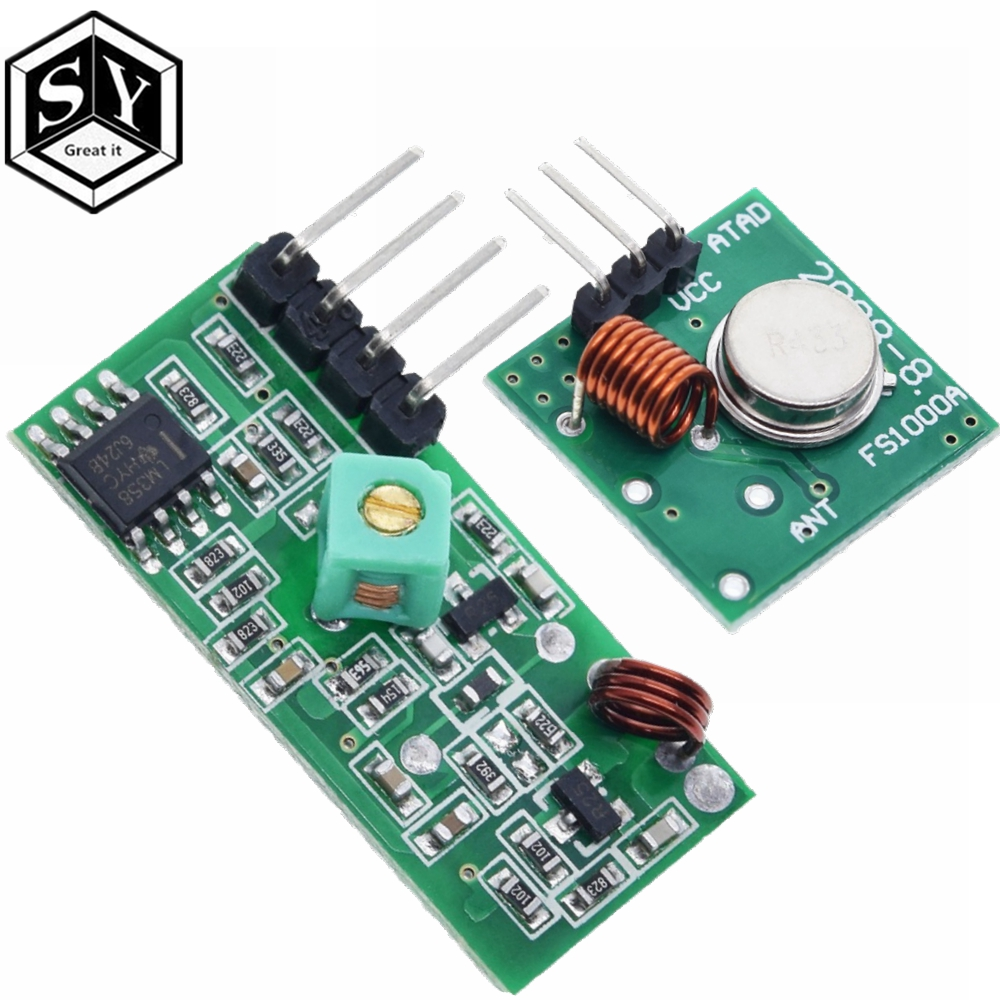 433 Mhz RF Transmitter and Receiver Module Link Kit for ARM/MCU WL DIY 433MHZ Wireless Remote Control for arduino Diy K0