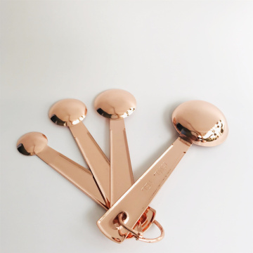 Measuring Spoons Rose Gold Set of 4