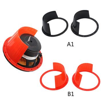 1 Pair 6.5 Inch Car Door Audio Speaker Ring Waterproof Cover Protector Black color