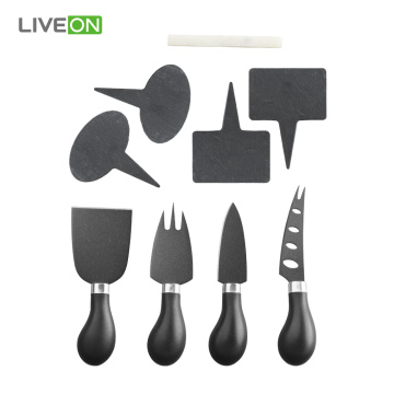 4 pcs Cheese Knife Set with Markers