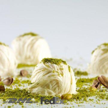 Turkish Cotton Candy Traditional Floss Halva with Antep Pistachio Pişmaniye, 8.8oz - 250g