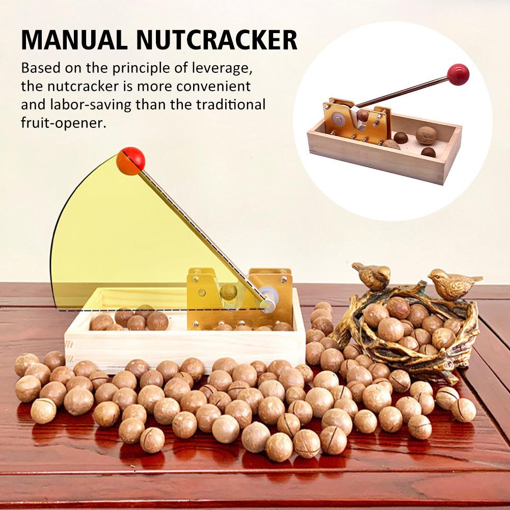 Nut Tongs With Handle Walnuts Portable Adjustable Size Sheller Manual Nutcracker Labor Saving Cracker Macadamia Aluminium Alloy