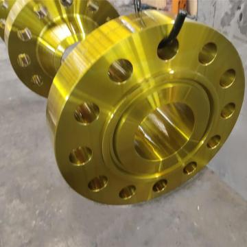 Yellow Paint A105 ANSI B16.5 weld neck Flange