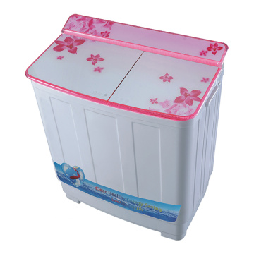 Pink Glass Cover 8.5KG Twin Tub Washer With Dryer