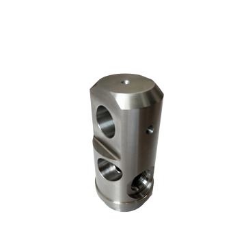 CNC Machined Steel Cylinder Manifold Part