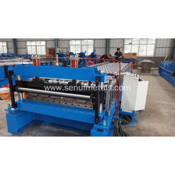 Metal IBR Trapezoidal Roof Sheet Shape Forming Machine