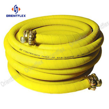 Wrapped flexible red air pressure hose