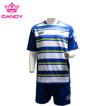 White and Blue Stripes Ahitereiria Rugby Shirt