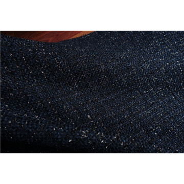 Free ship navy with shinning line weaved tweed fabric price for 1 meter