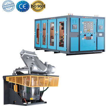 industrial induction scrap steel iron casting furnace