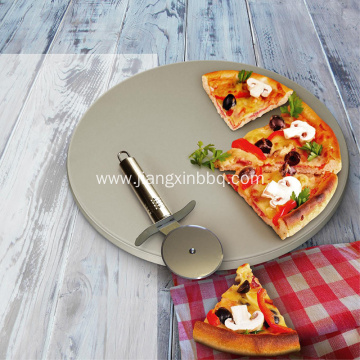 13.5 Inch Pizza Stone With SS Cutter