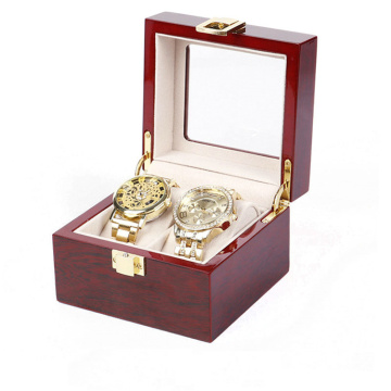 Custom Wooden Watch Display Box with Glass