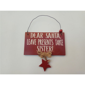 Red Christmas Santa Decoration Hanging