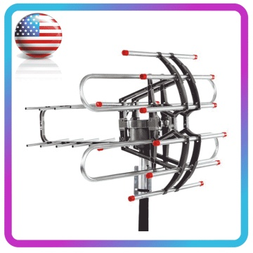 Leadzm TA-851B TV Antenna 360 Degrees Rotation UV Dual Frequency 45-860MHz 22-38dB Open Outdoor Antenna TV Receiver Accessories