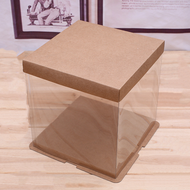 Food grade plastic clear cake box