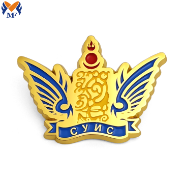 Souvenir gift alloy lapel pin for men