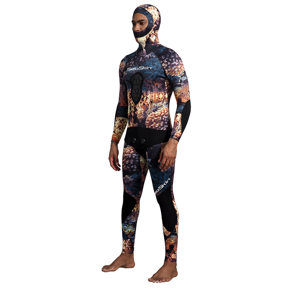 Seaskin Two Pieces Camoflage Wetsuit