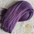 Best custom purple russian hand tied weft