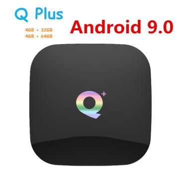 Q Plus Smart TV Box Android 9.0 TV Box 4GB Ram 32GB 64GB Rom 6K H.265 USB3.0 Allwinner H6 PK T95Q s905x2 X96 MAX Set Top Box