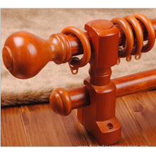 Fine Craftsmanship Decorative Poles Wooden Curtain Rod