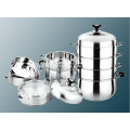 Durable Stainless Steel Composite Bottom Three Layer Steamer