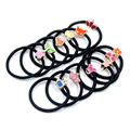 20Pcs Girls Kids Nylon Rubber Bands Elastic Hair Bands Ponytail Holder Headband Decorations Hair Accessories Hair Rope Style New