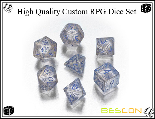 High Quality Custom RPG Dice Set