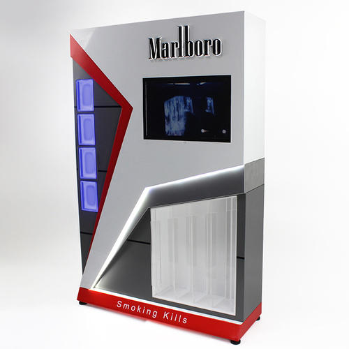 Acrylic Cigarette Stand Display Cabinet With Metal Base