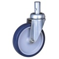 5'' round stem casters with TPE wheels