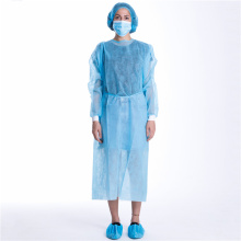Knitted Cuff Waterproof Medical Disposable Protection Suit