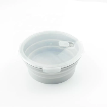 Food Grade Collapsible Round Sealed Lunch Box