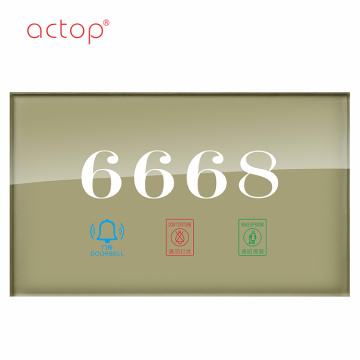 High-Tech Remote Control Smart hotel door plate