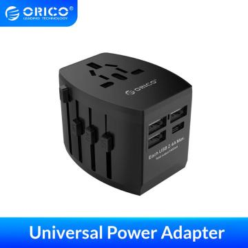 ORICO Travel Adapter Electrical Socket EU/US/UK/AU Plug Universal Power Adapter with 4 USB Ports 5V3.4A Charger