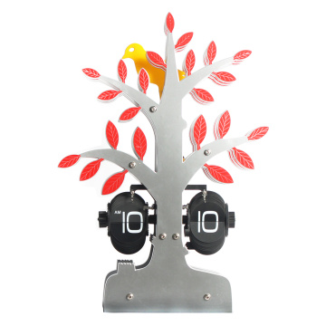 Table Tree Flip Clock with Bird