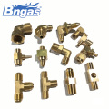 Water heater fittings brass three-way elbow