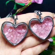 Fashion Love Heart Wishing Bottle Pendant Necklace for Girls