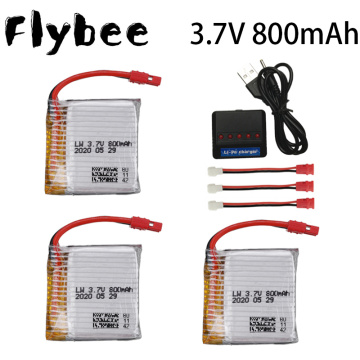 3.7V 800mAh lipo Battery For Syma X21 / X21w x26 RC Quadcopter Drone Spare Parts Accessories 3.7V Battery Charger Set