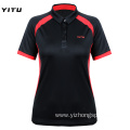 Moisture Wicking Dry Fit Polo Shirt Black Polyester