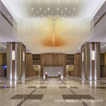 Professional project customized mall crystal chandelier
