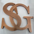Small Copper Flat Metal Letters