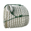 Warehousing green and black 8mm polypropylene braided rope