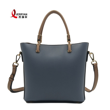 Crossbody Bucket Bag Blue Adjustable Strap